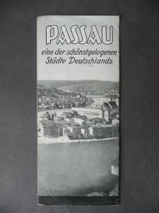 Reiseprospekt Passau Dreiflüssestadt Bayern ca. 1940