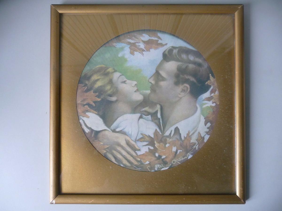 Druckgraphik Kunstdruck Charles Allan Gilbert Liebespaar Jugendstil 0