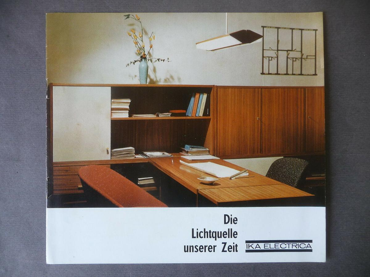 Reklameprospekt IKA Electrica Leuchtenbau DDR 1965 0