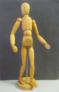 Gliederpuppe Modellpuppe Zeichenpuppe aus Holz