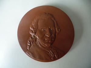 Medaille Conrad Ekhof Gotha / Böttgersteinzeug Meißen