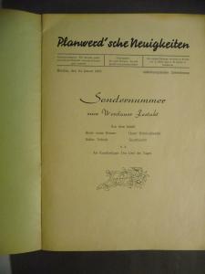Privatdruck Hochzeitszeitung Festzeitung Humor Werdau 1953