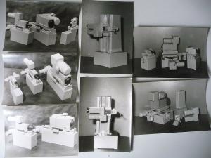 7 Orig. Fotos Maschinen-Modelle Bohrgerät Fräsmaschine / Wema Plauen 1959