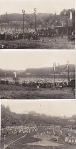 3 x Orig. Foto Turner-Fest Sachsen Vogtland ? ca. 1920