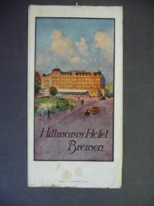 Orig.-Prospekt Bremen Hillmanns Hotel Bremen ca. 1920