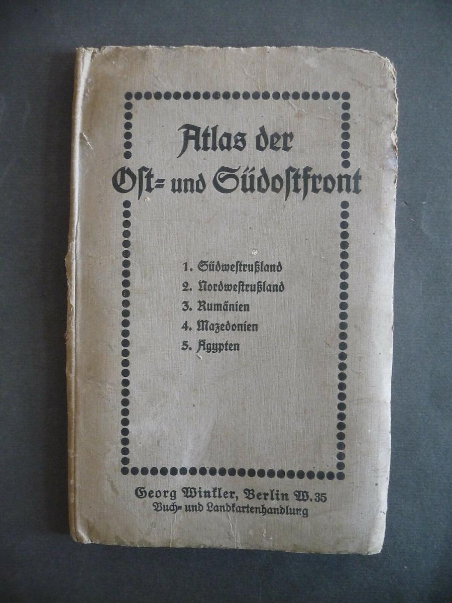 Atlas Ostfront Südosttfront 5 Karten Erster Weltkrieg 0