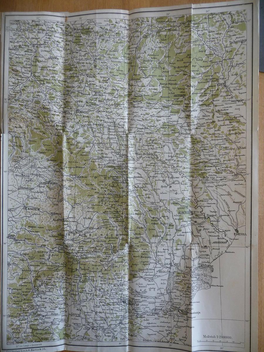 Atlas Ostfront Südosttfront 5 Karten Erster Weltkrieg 1