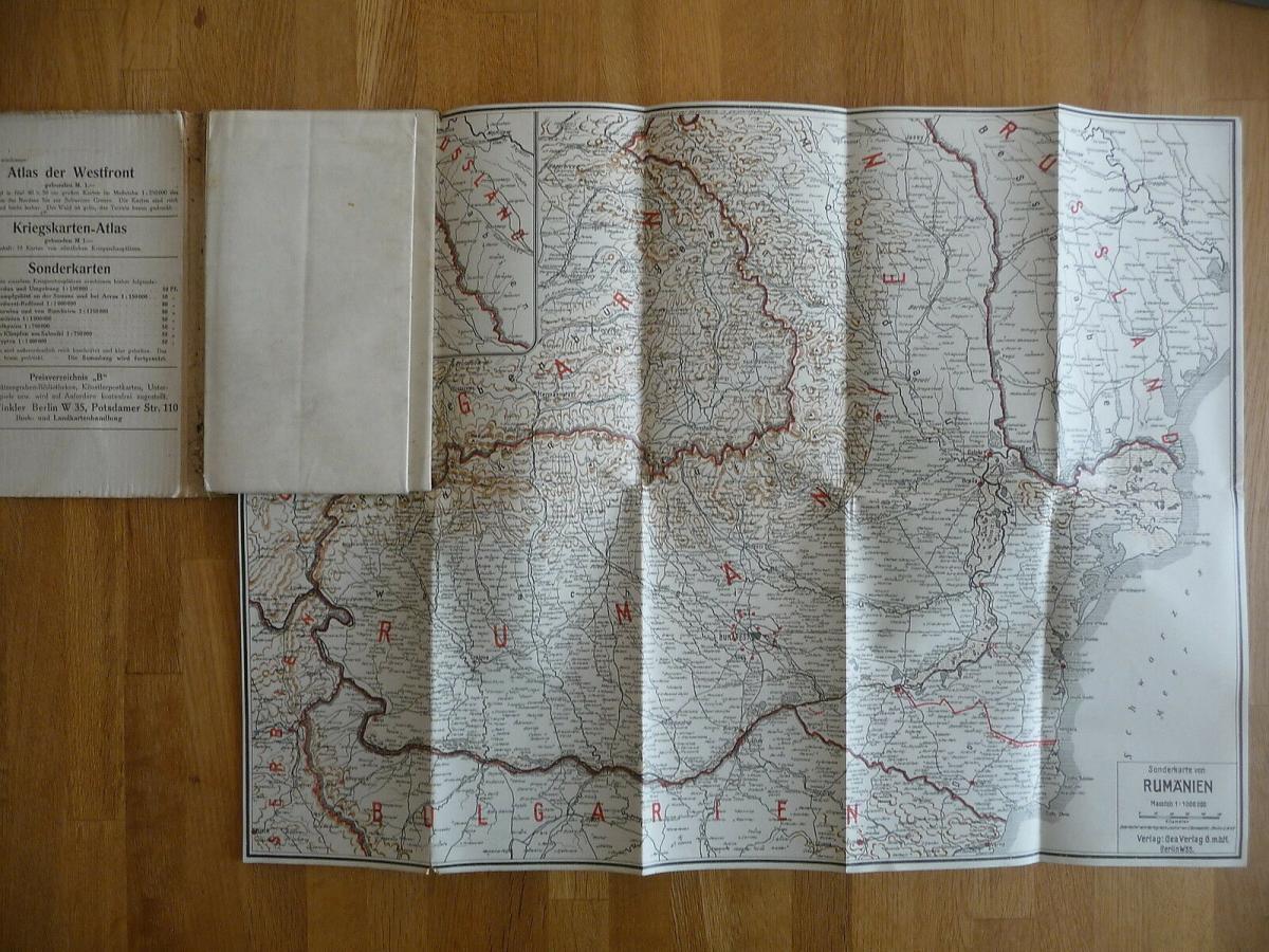 Atlas Ostfront Südosttfront 5 Karten Erster Weltkrieg 2