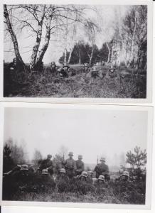 2 Orig. Fotos Soldaten Boden Übung / Königsbrück Sachsen ca. 1940