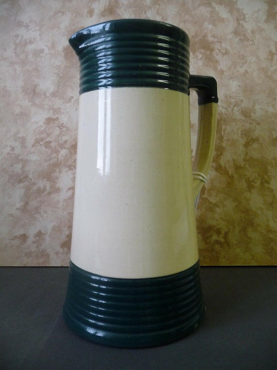 Schöner Krug weiß-grün für die Landhausküche 0