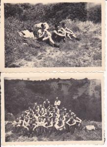 2 Orig. Fotos Soldaten Zug Gruppenbild WK II 1944