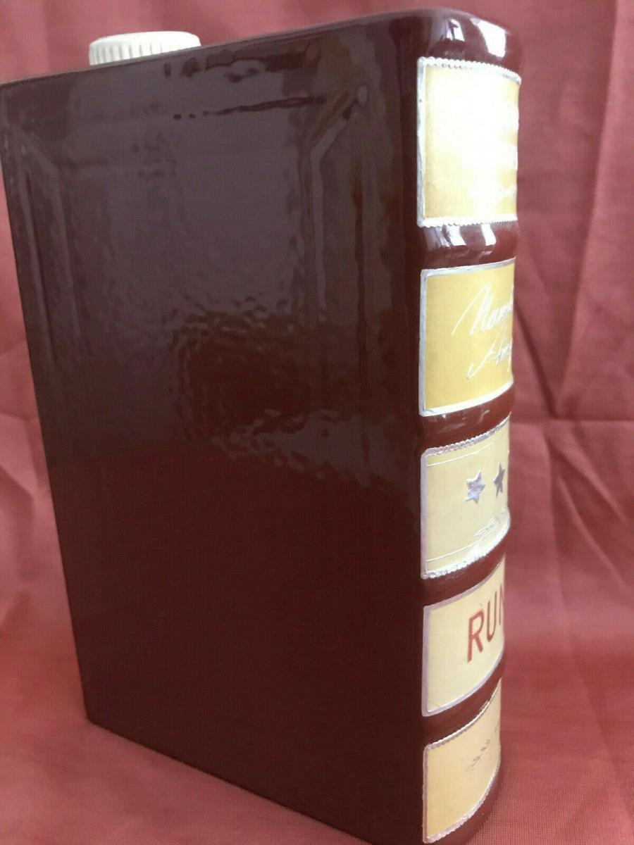 Rumflasche Schnapsflasche Keramik Buchimitat 3