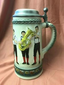 Bierkrug Reliefkrug GERZ Musikanten 21cm