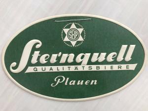 Pappschild Reklame Sternquell Bier Plauen/Vgtl.