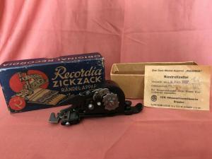 Zickzack Rändel-Apparat Recordia 1957