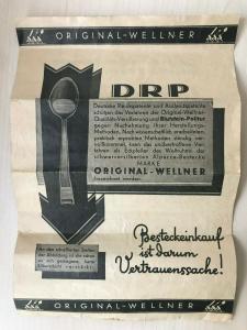 Beilage für Wellner Bestecke DRP