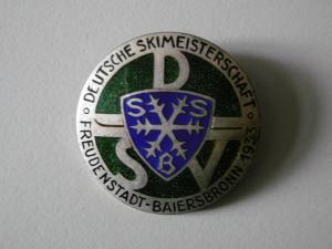 Abzeichen Deutsche Skimeisterschaft Freudenstadt 1933