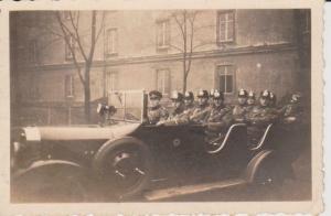 Orig. Foto Polizei-Mannschaft im Wagen Einsatz 1933