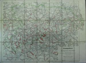 Straßenprofilkarte Landkarte Königreich Sachsen