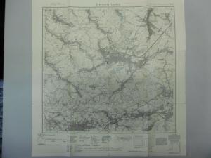 Topographische Karte Meßtischblatt 5142 Hohenstein-Ernstthal Limbach-Oberfrohna