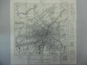 Topographische Karte Nr. 5143 Chemnitz Meßtischblatt 1941