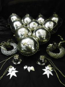 Wunderschönes Konvolut alten Weihnachtsschmuckes