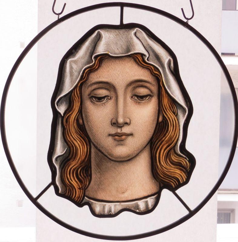 Frauenbildnis, Glasmalerei um 1840 0