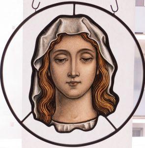 Frauenbildnis, Glasmalerei um 1840
