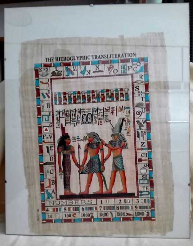 Übersetzung der Hieroglyphic Ägypten Druck