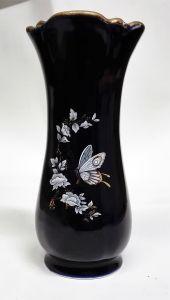 Vase APRO echt Kobalt mit Goldrand