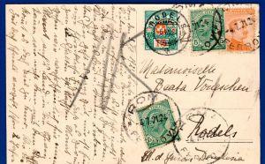 Schweiz Nachporto auf Italienkarte / 1921