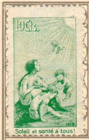 Pro Juventute Vorläufer / 10 ct. grün / mit französischem Text / auf Ansichtskarte  Zumstein W II