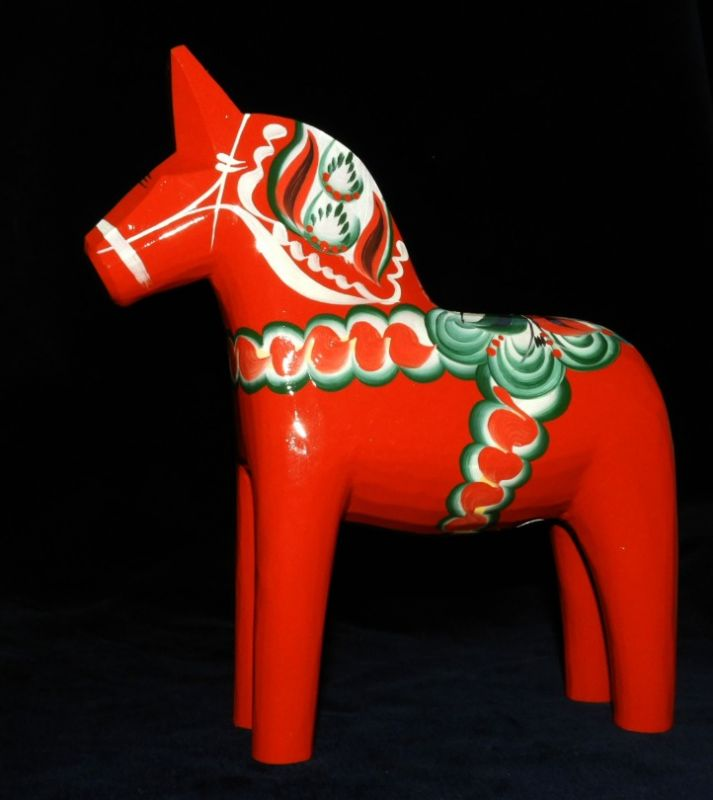 Dalahäst / Dalarna-Pferd aus Schweden / 21 cm h