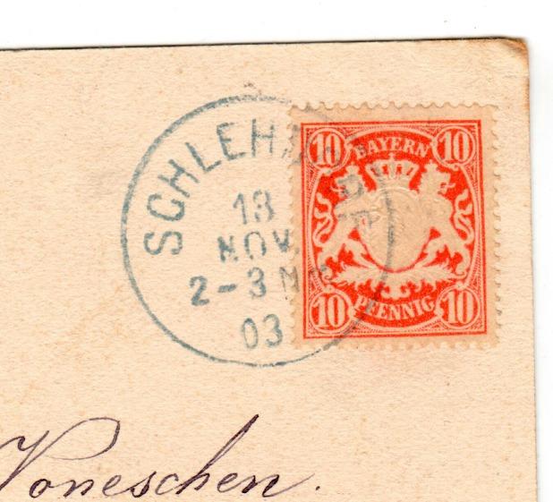Bayern Deutschland auf Postkarte / Mi: DE-BY 56