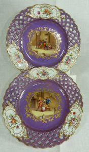 Sächsische Porzellanfabrik zu Potschappel von Carl Thieme in Potschappel, Deutschland / Zeitraum 1888 - 1901 / 1 Früchteteller