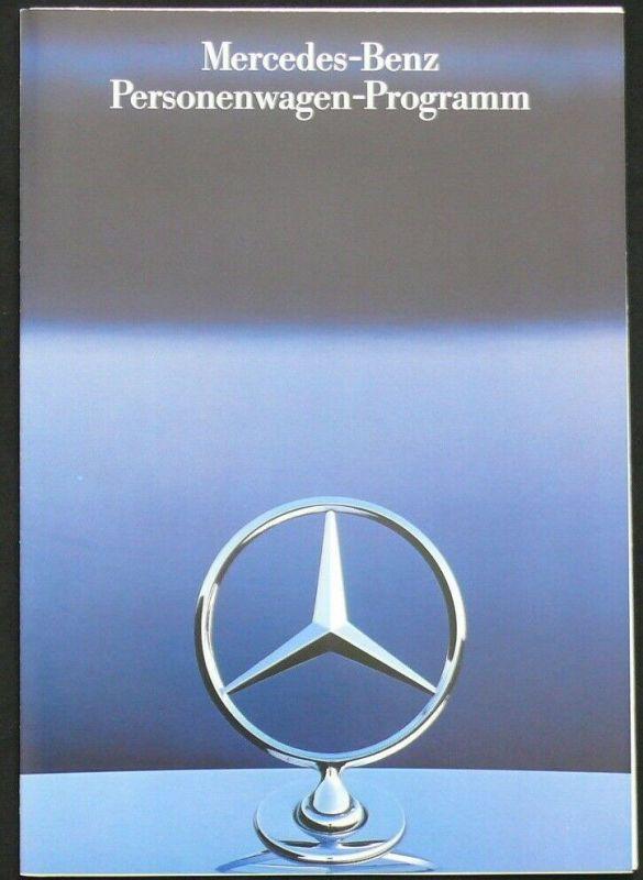 Mercedes 190/S-Klasse/SL/W201/W124/W126/R107/C126/T124/T-Modell/Coupé Prospekt/brochure/folder 1985