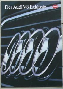 Audi V8 Exclusiv (Typ 4C) quattro 3,6 32V Prospekt/brochure/opuscolo/prospectus/folder 1991