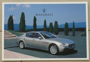 MASERATI Quattroporte/Spyder/Coupé GT/Cambiocorsa/Vintage/Trofeo/Officine Alfieri Prospekt/brochure/opuscolo/prospectus