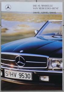 Mercedes SL R107 300SL/420SL/500SL Prospekt/brochure/opuscolo/prospectus 1988