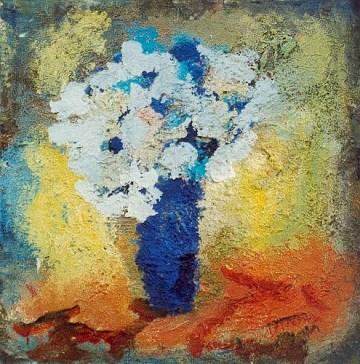 Aron Bukh Blaue Vase 1994 Öl Leinwand signiert