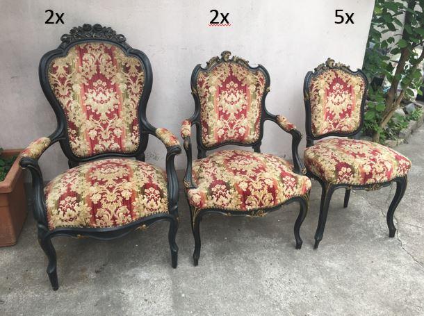 Antike Stühle, Sessel und Couch - 11 Teile!!! Louis seize um 1890, Gründerzeit!