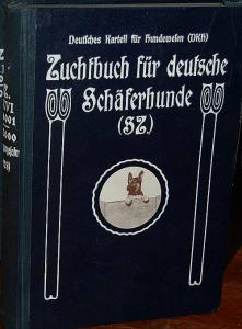 Zuchtbuch für Deutsche Schäferhunde (SZ). Band XXVI (370001 - 385000). (Eintragungsjahr 1928). Geführt und im Selbstverlag herausgegeben vom Verein für Deutsche Schäferhunde (SV) Sitz Berlin, Zuchtbuchamt des SV, Augsburg.. Deutsches Kartell für Hundew...