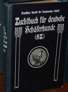 Zuchtbuch für Deutsche Schäferhunde (SZ). Band XXIX (414001 - 428000). (Eintragungsjahr 1931). Geführt und im Selbstverlag herausgegeben vom Verein für Deutsche Schäferhunde (SV) Sitz Berlin, Zuchtbuchamt des SV, Augsburg.. Deutsches Kartell für Hundew...