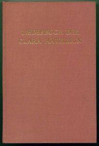 Liederbuch der Clara Hätzlerin. Haltaus, Carl (Hrsg)