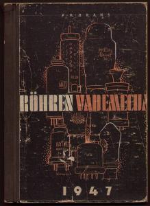 Röhren Vademecum. 1947. Brans, P.H. (Hrsg.)