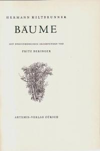 Bäume. Hiltbrunner, Hermann