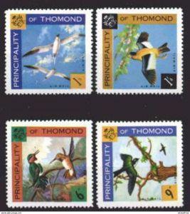 4 Vogelmotive Fürstentum Thomond postfrisch # mot474