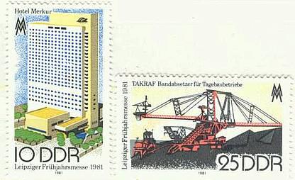 DDR Mi 2593 - 2594 postfr. K1-2809                     DDR Mi 2579 postfr. K1-2826
