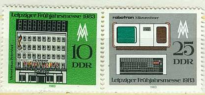 DDR Mi 2779 - 2780 postfr.  K1-2820                              DDR Mi 2579 postfr. K1-2826