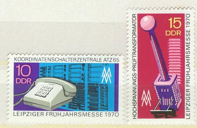 DDR Mi 1551 - 1552 postfr.  K1-2736